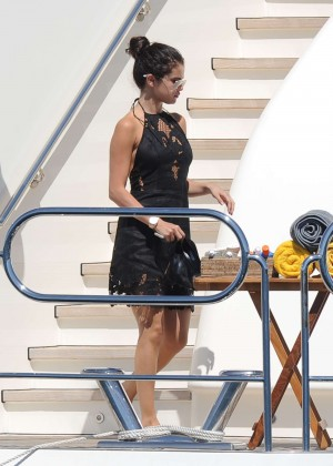 Selena Gomez Photos: Black Mini Dress -16