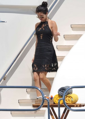 Selena Gomez Photos: Black Mini Dress -19