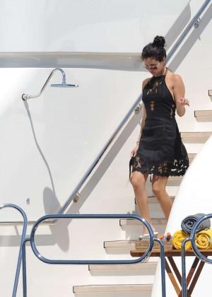 Selena Gomez Photos: Black Mini Dress -37
