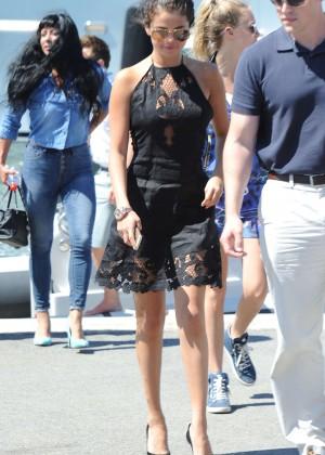 Selena Gomez Photos: Black Mini Dress -42