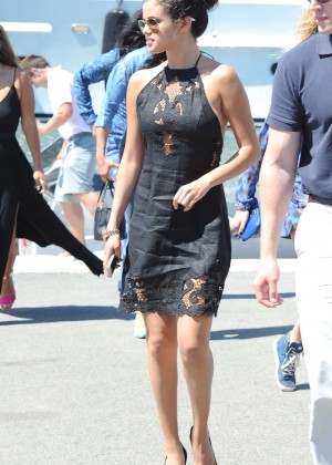 Selena Gomez Photos: Black Mini Dress -44
