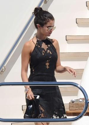 Selena Gomez on a yacht in Saint-Tropez