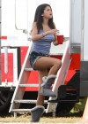 Selena Gomez braless On set Spring Breakers in Florida-03