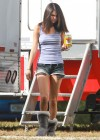 Selena Gomez braless On set Spring Breakers in Florida-10