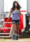 Selena Gomez braless On set Spring Breakers in Florida-12