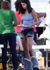 Selena Gomez braless On set Spring Breakers in Florida-14