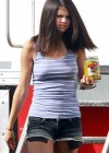 Selena Gomez braless On set Spring Breakers in Florida-19