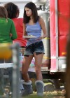 Selena Gomez braless On set Spring Breakers in Florida-20