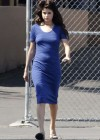 Selena Gomez - In Blue Dress on set Parental Guidance Suggested-02