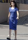 Selena Gomez - In Blue Dress on set Parental Guidance Suggested-03