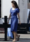 Selena Gomez - In Blue Dress on set Parental Guidance Suggested-04