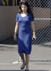 Selena Gomez - In Blue Dress on set Parental Guidance Suggested-05