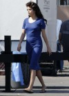 Selena Gomez - In Blue Dress on set Parental Guidance Suggested-07