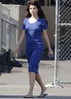 Selena Gomez - In Blue Dress on set Parental Guidance Suggested-08