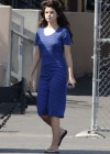 Selena Gomez - In Blue Dress on set Parental Guidance Suggested-09