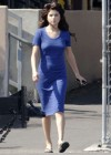 Selena Gomez - In Blue Dress on set Parental Guidance Suggested-11