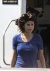 Selena Gomez - In Blue Dress on set Parental Guidance Suggested-12