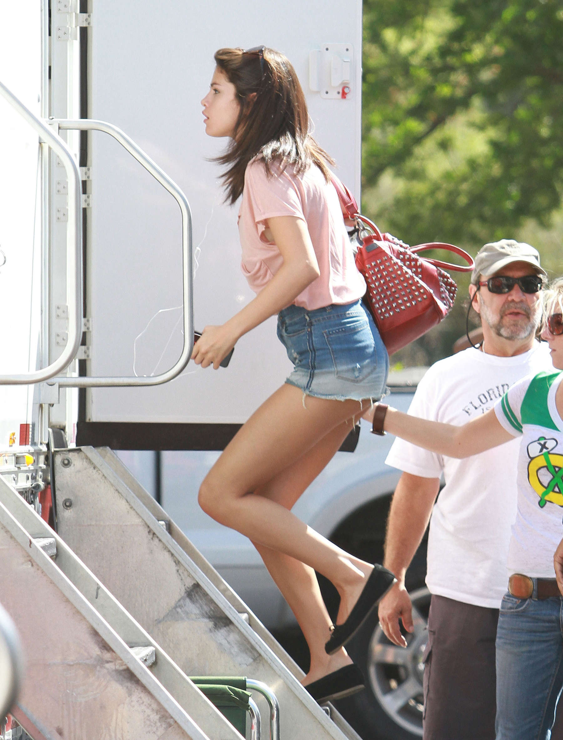 Selena Gomez on the set of Spring Breakers-06
