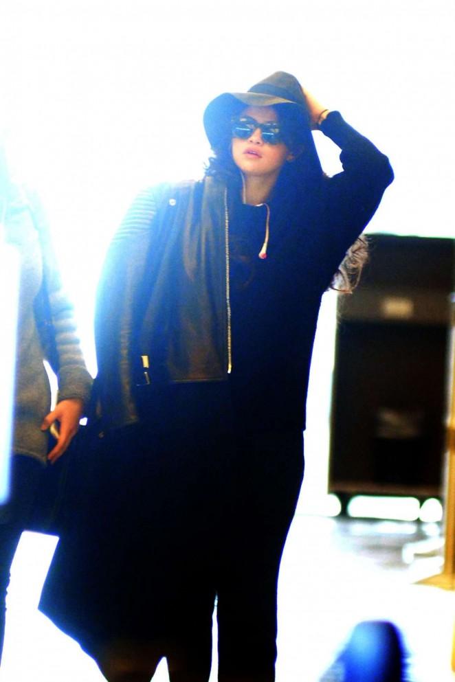 Selena Gomez at JFK Airport in NY