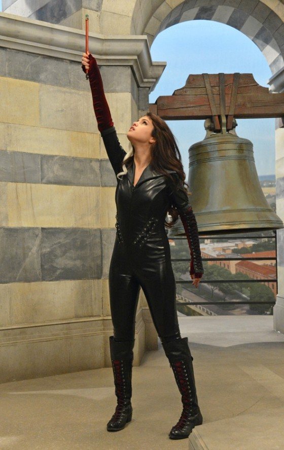Selena Gomez - Sexy in a Black Leather Outfit in The Wizards Return Alex vs Alex Stills 2013
