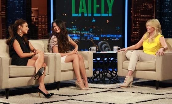 Selena Gomez & Vanessa Hudgens At Chelsea Lately in LA
