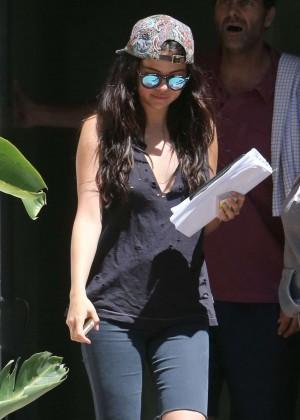 Selena Gomez visiting her acting coach in LA