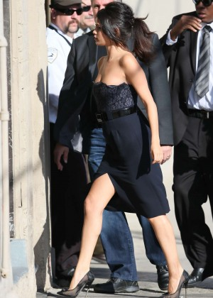 Selena Gomez - Visits Jimmy Kimmel Live in Hollywood