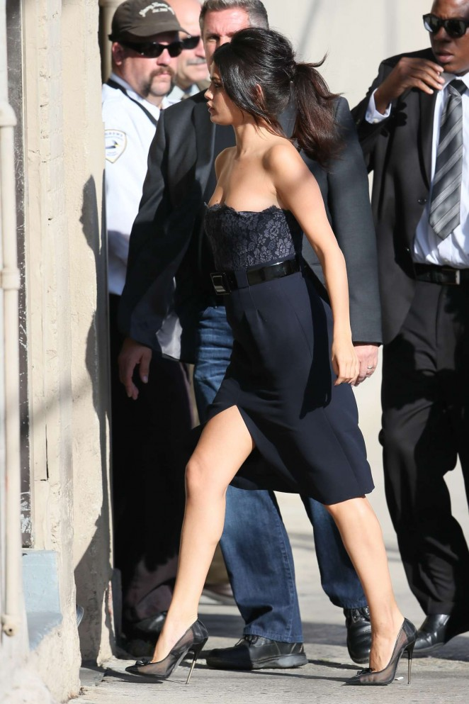 Selena Gomez – Visits Jimmy Kimmel Live in Hollywood
