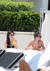Selena Gomez bikini by the pool in Miami -04