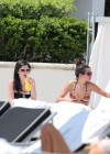 Selena Gomez bikini by the pool in Miami -17
