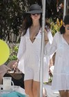 Selena Gomez bikini by the pool in Miami -18