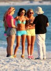 Selena Gomez with Vanessa Hudgens and Ashley Benson In Bikini on Beach-01