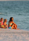 Selena Gomez with Vanessa Hudgens and Ashley Benson In Bikini on Beach-10