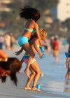 Selena Gomez with Vanessa Hudgens and Ashley Benson In Bikini on Beach-20
