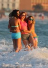 Selena Gomez with Vanessa Hudgens and Ashley Benson In Bikini on Beach-27