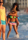 Selena Gomez with Vanessa Hudgens and Ashley Benson In Bikini on Beach-40