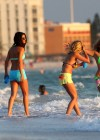 Selena Gomez with Vanessa Hudgens and Ashley Benson In Bikini on Beach-57