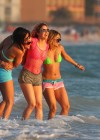 Selena Gomez with Vanessa Hudgens and Ashley Benson In Bikini on Beach-63
