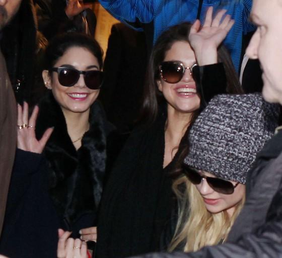 Selena Gomez with Vanessa Hudgens and Ashley Benson – Shopping Candids in Paris -02