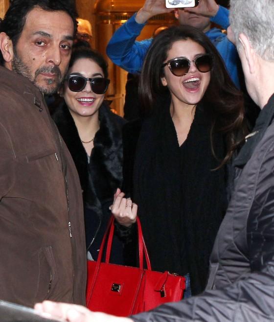 Selena Gomez with Vanessa Hudgens and Ashley Benson – Shopping Candids in Paris -04