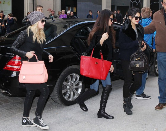 Selena Gomez with Vanessa Hudgens and Ashley Benson – Shopping Candids in Paris -05