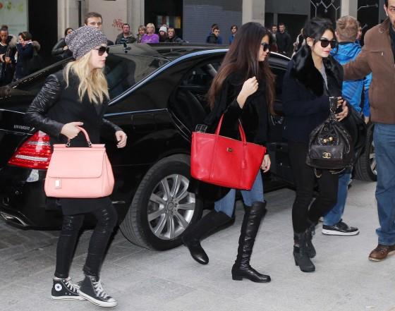 Selena Gomez with Vanessa Hudgens and Ashley Benson – Shopping Candids in Paris -05