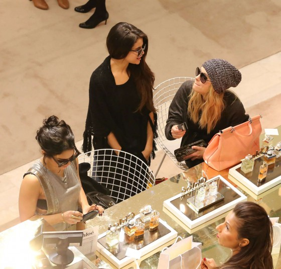 Selena Gomez with Vanessa Hudgens and Ashley Benson – Shopping Candids in Paris -12
