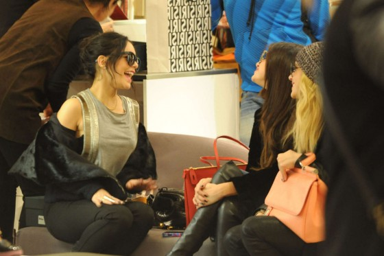 Selena Gomez with Vanessa Hudgens and Ashley Benson – Shopping Candids in Paris -18