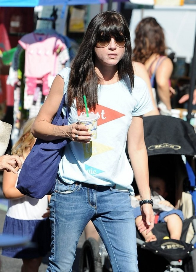 Selma Blair in jeans at a Farmers Market in Studio City