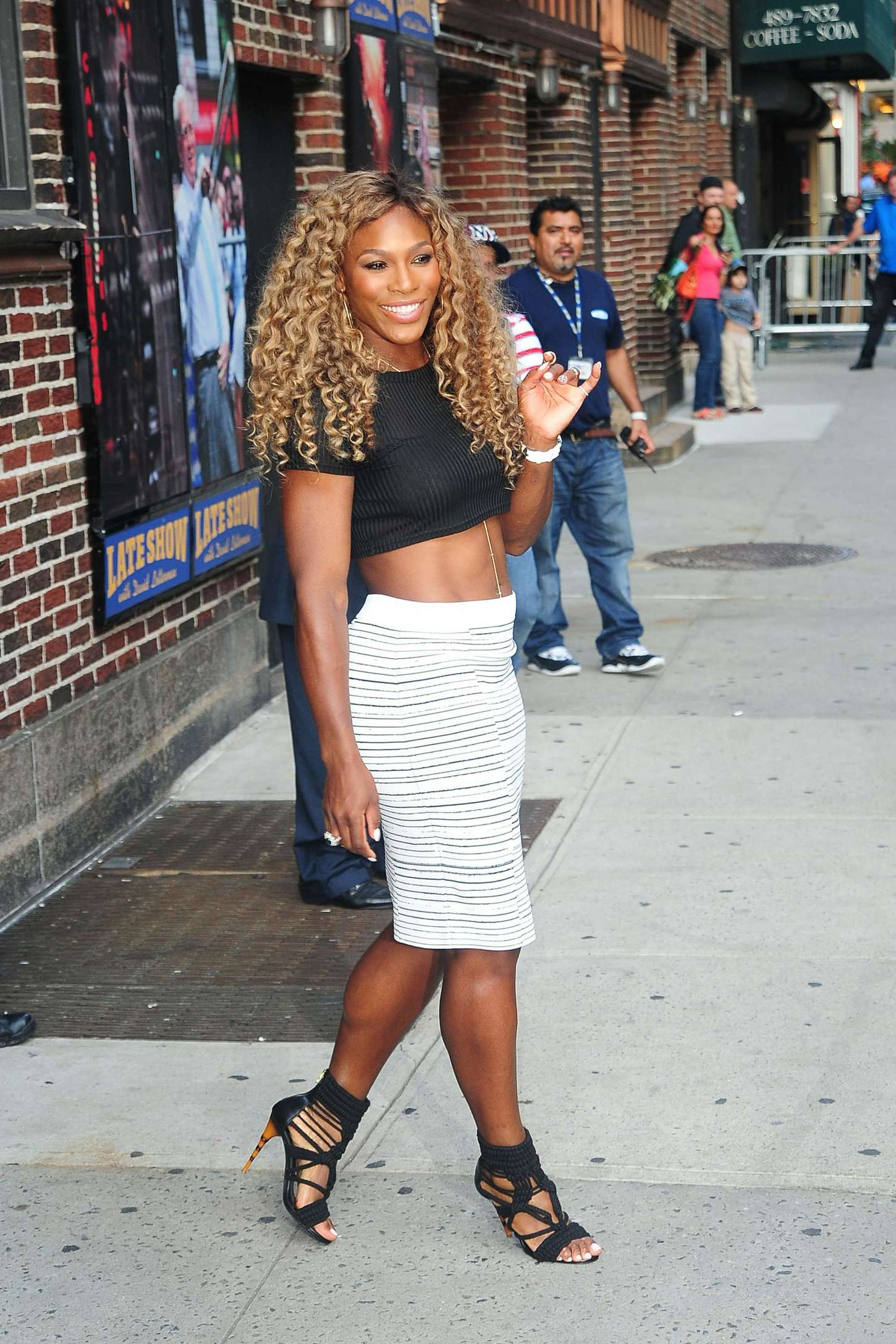 Serena Williams at Late Show With David Letterman 03 GotCeleb