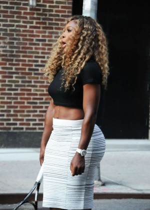 "Serena Williams Arriving at ""Late Show With David Letterman"" in New York"
