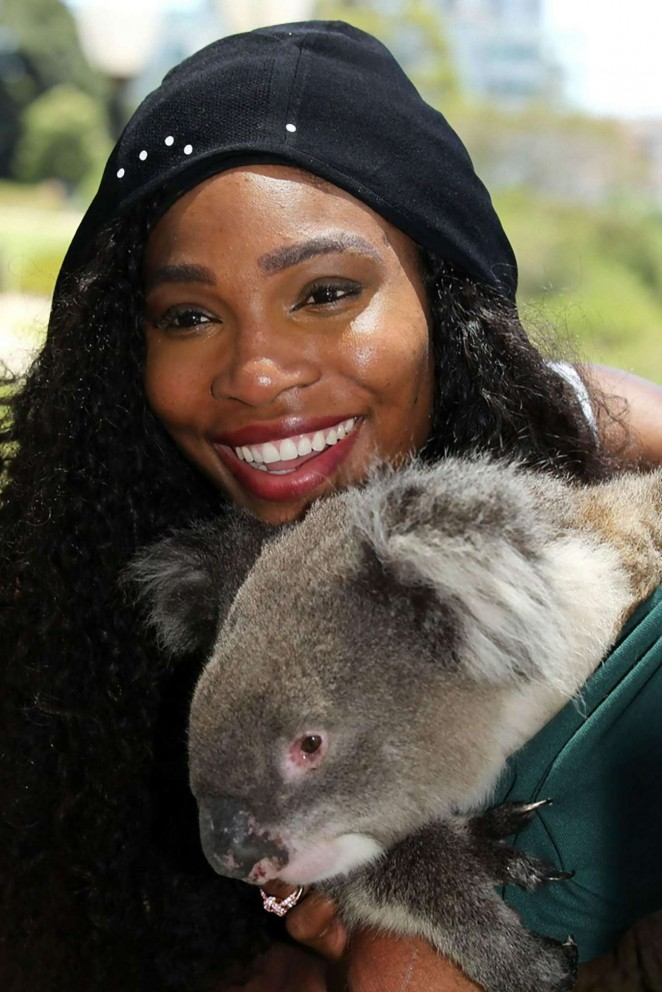 Serena Williams at Kings Park in Perth