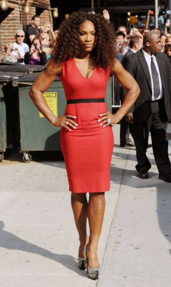 Serena Williams In Red Dress 07 Gotceleb