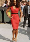 Serena Williams in red dress-13